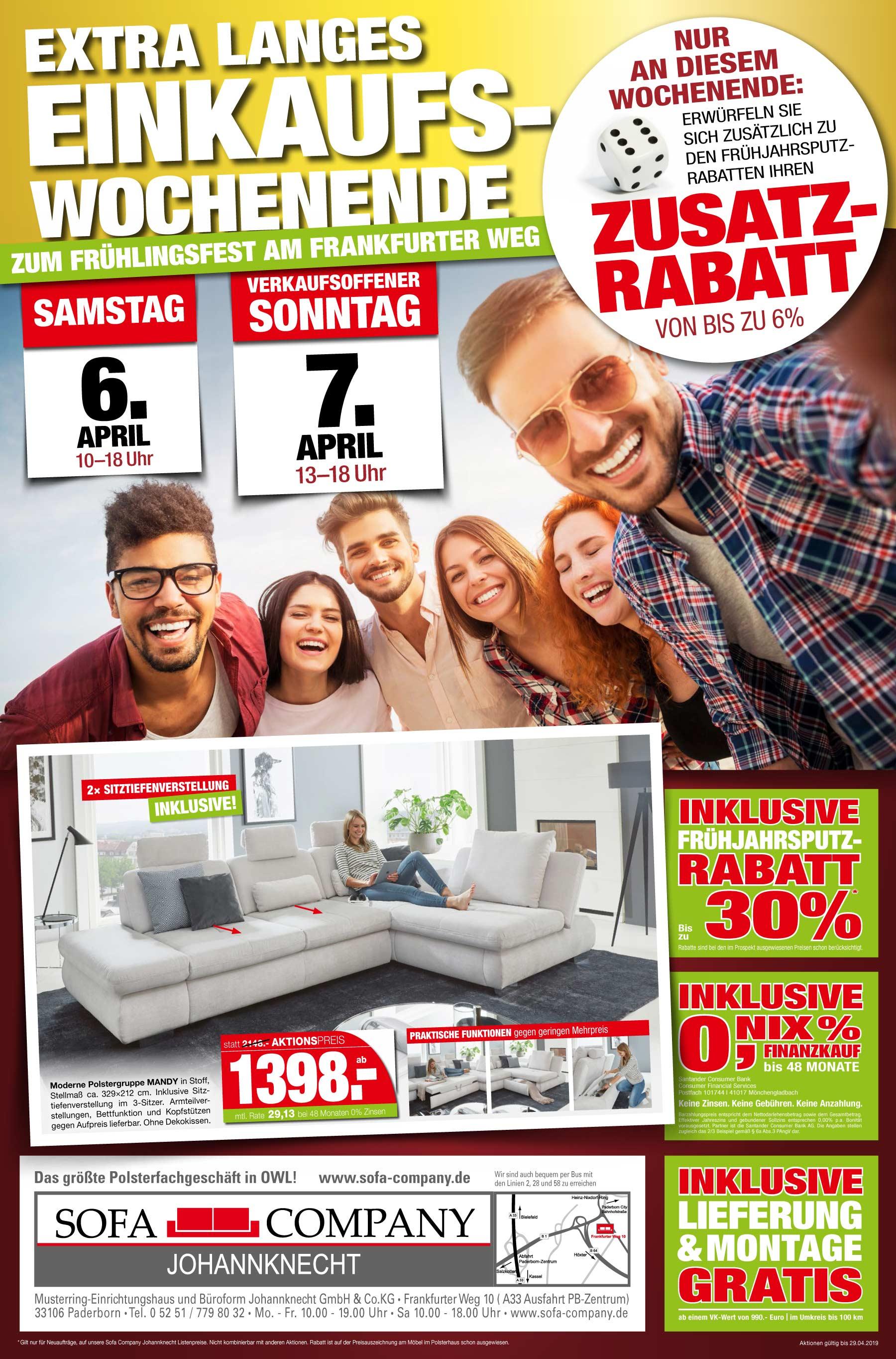 fr hlingsfest frankfurter weg 07 april 2019 sofa company in paderborn. Black Bedroom Furniture Sets. Home Design Ideas