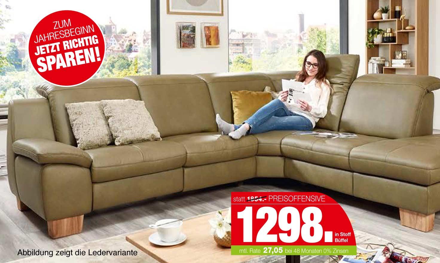 Viel Sofa, kleiner Preis